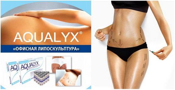 Интралипотерапия локальных жировых отложений Aqualyx